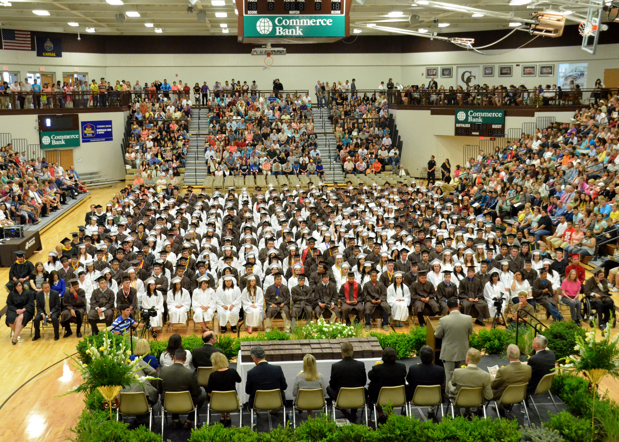 Class of 2013, first to graduate from the new high school.