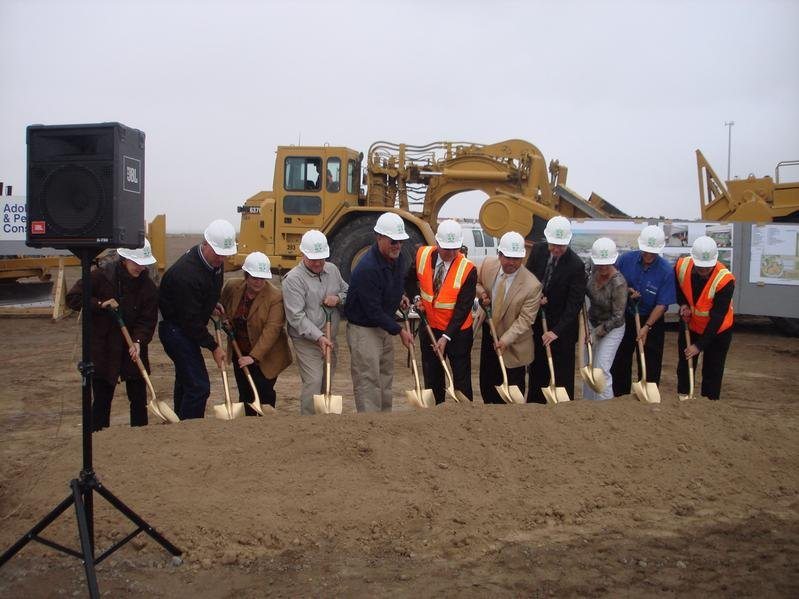 Groundbreaking for the new high school