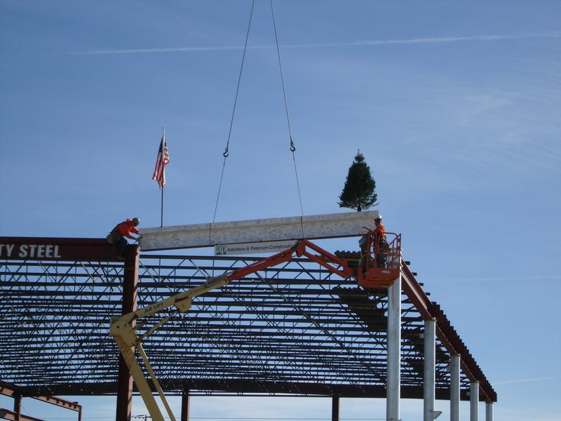 Topping out ceremony at the new high school